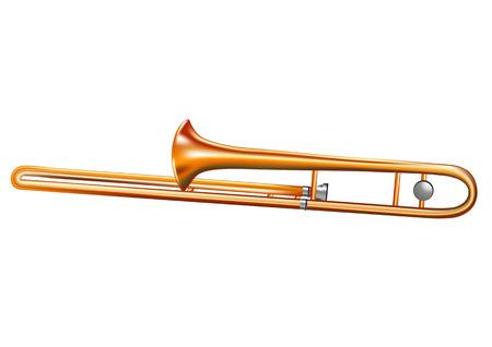 trombone: trombone isolated on white background  Illustration
