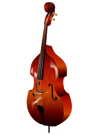 contrabass: contrabass isolated on white background  Illustration
