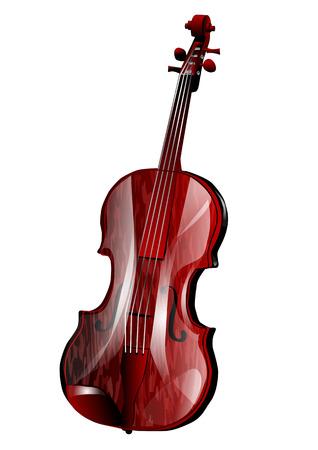 viola isolated on white background  Illustration