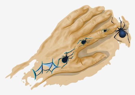 runaway: Tatuaje del fugitivo Hend con ara�as 10 EPS