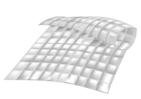 duvet isolated on white background
