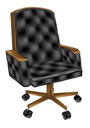 leather chair: sedia da ufficio in pelle isolato su sfondo bianco