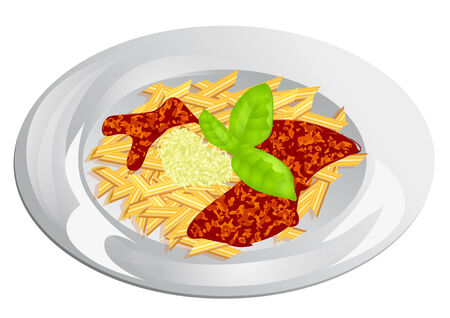 plato pasta: placa de plato de pasta de las pastas aislado en blanco