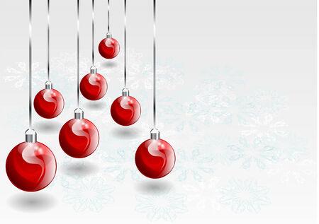 cristmas: cristmas baubles and snowflake  10 EPS