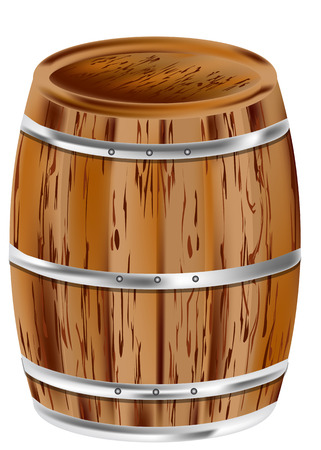 distillery: wooden barrel isolated on a white background