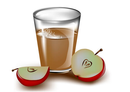cider: apple cider on a white backround