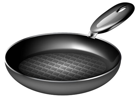 frying pan isolated on a white background
