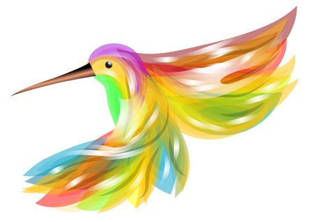 hummingbird  abstract bird isolated on white background Vector