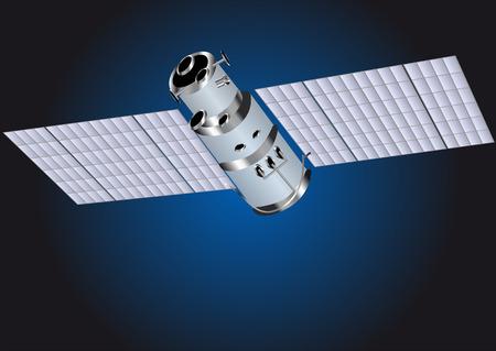 satellite transmitter: satellite in a night sky