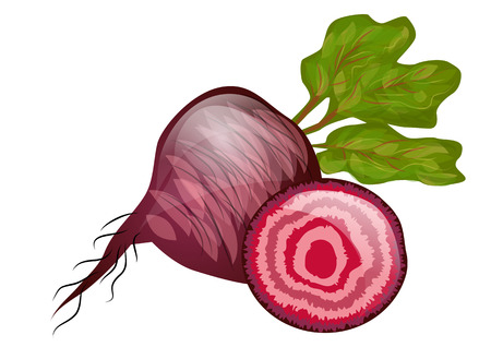 beetroot isolated on a hite background