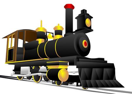 locomotive isolated on a white background