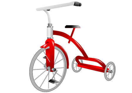 tricycle: tricycle isolated on white background, 10 PS Illustration