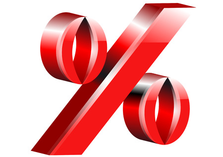 percentage sign: percentage sign isolated on a white background