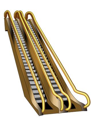 escalator isolated on white background  10 EPS
