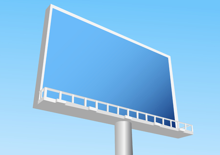 billboard outdoor against a blue sky  10 EPS Illustration