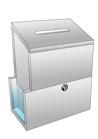 backgrouns: ballot box isolated on a white backgrouns