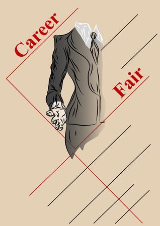 career fair: career fair  empty template of job faire