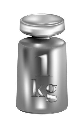 kilograms: kilogram isolated on whote background