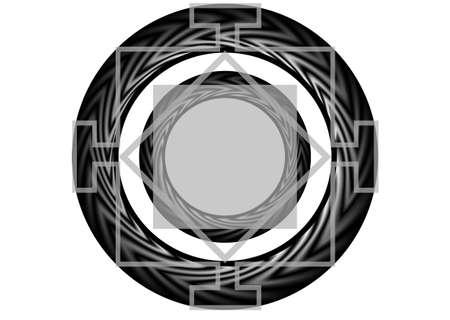 mandala  simbol of religion isolated on white Stock Vector - 28871988