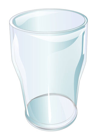 pint glass: pint glass isolated on a white backgroud Illustration