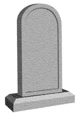 tombostone isolated on white background