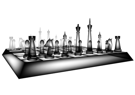 白い背景で隔離の glfss チェス  イラスト・ベクター素材