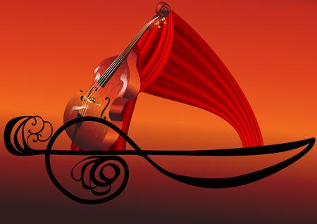 abstrakce: hudební abstrakce Ilustrace