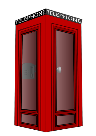 telephone box: telephone box isolated on a white background