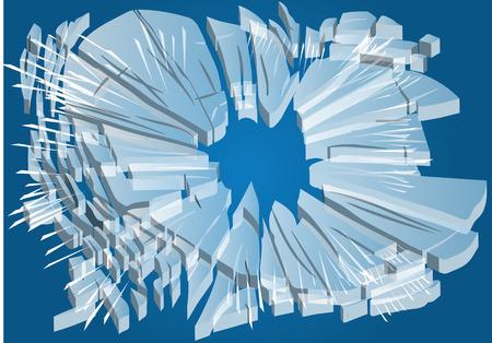 vetro rotto: rotto il vetro astratto illustrazione rotto 10 EPS