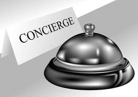 service bell: concierge  hotel service bell and concierge sign