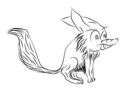 sly: toon fox isolated on a white background