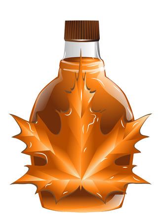 maple syrup: jarabe de arce aislado en un fondo blanco