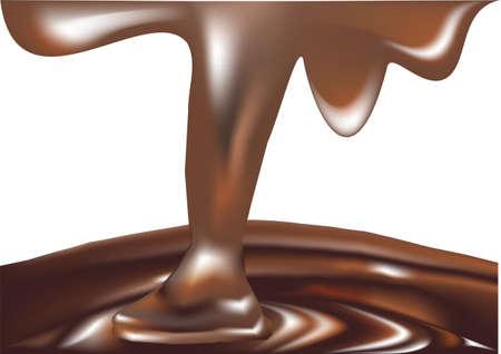chocolate derretido: chocolate derretido