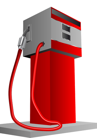 refueling: petrol pump isolated on a white background Illustration
