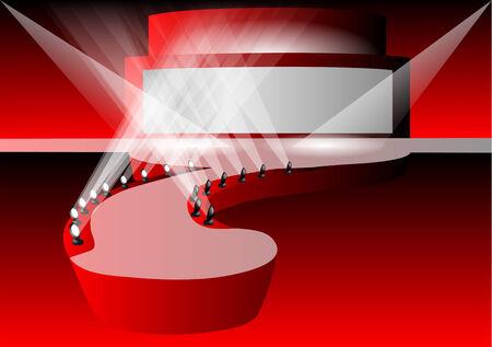 Pasarela pista de color rojo con luz Foto de archivo - 30403492