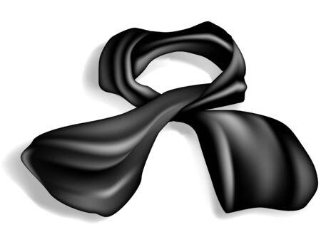 silk scarf: silk scarf on white background with shadow Illustration
