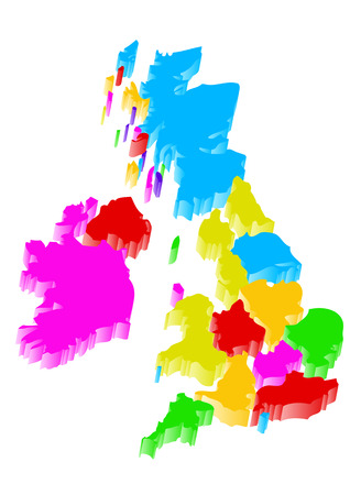 uk map: abstract uk map isolated on a white background