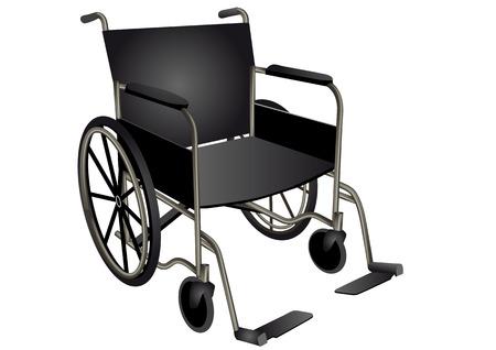wheel chair: wheelchair  dark wheel chair isolated on white