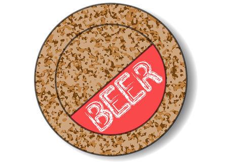bier mat geïsoleerd op een witte achtergrond Stock Illustratie