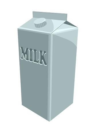 carton de leche: cart�n de leche aislado en un fondo blanco Vectores