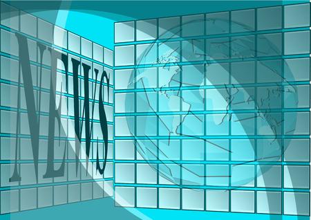 ニュース編集室。scrins と抽象の世界と空の部屋