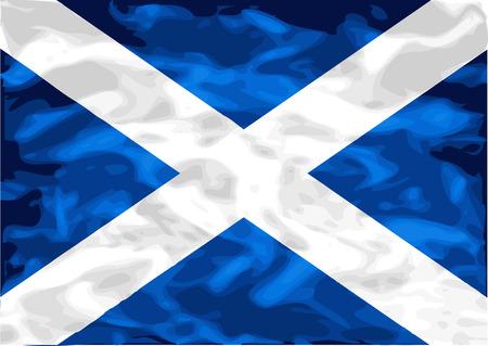 scottish flag: bandiera scozzese. Bandiera della Scozia su struttura di raso