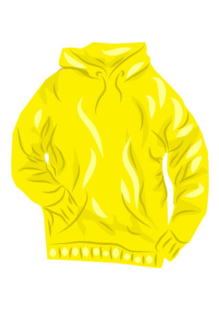 hoody: yellow hoody isolated on a white background Illustration