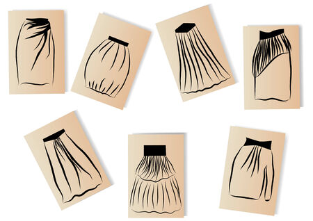 skirts: skirts illustration Illustration
