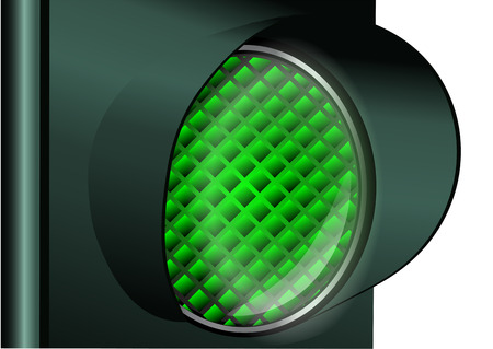 trafficlight: green traffic light isolated on a white background