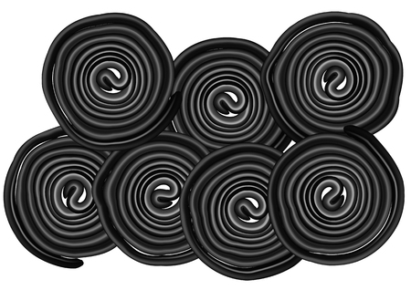 liquorice: liquorice isolated on white background. 10 EPS