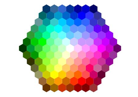 color mixing: mixing color isolated on a white background