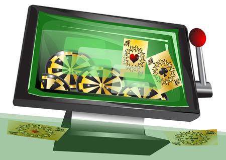 Los juegos de azar en línea Foto de archivo - 32762788