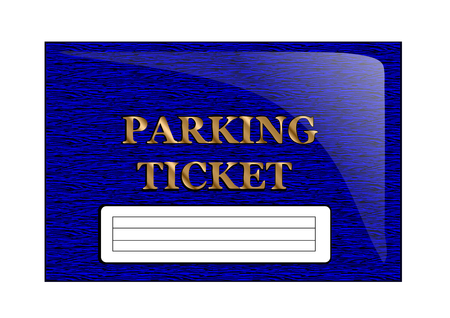 parking ticket: parking ticket isolated on a white background