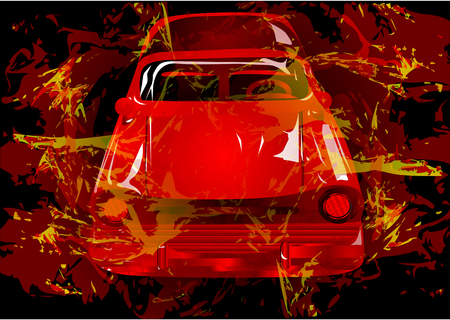 prestige: car. abstract auto on a multicolor background Illustration